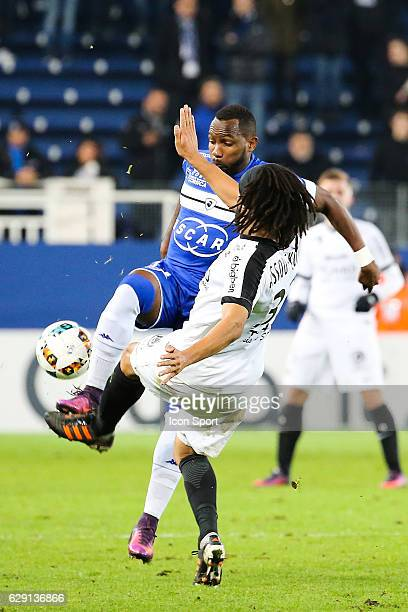 Lenny Nangis of Bastia during the French Ligue 1 match between Bastia and Metz at Stade Armand Cesari on December 10 2016 in Bastia France