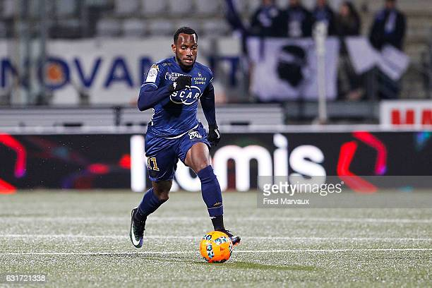 Lenny Nangis of Bastia during the Ligue 1 match between AS Nancy Lorraine and SC Bastia at Stade Marcel Picot on January 14 2017 in Nancy France