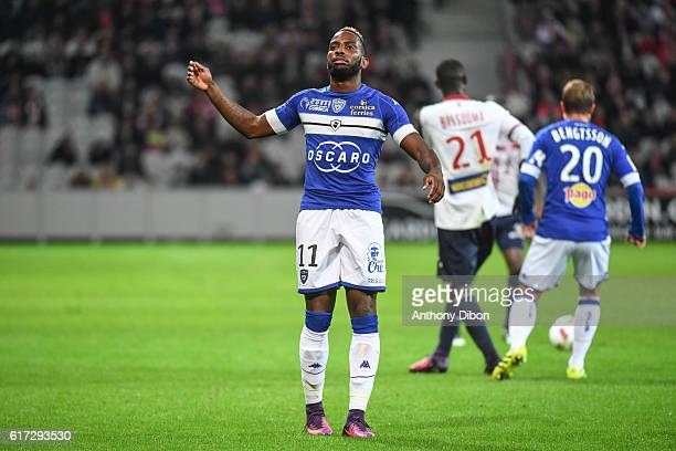 Lenny Nangis of Bastia during the Ligue 1 match between Lille and Bastia at Stade PierreMauroy on October 22 2016 in Lille France