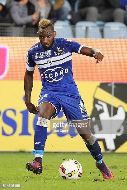 lenny nangis of bastia during the Ligue 1 match between SC Bastia and Angers SCO at Stade Armand Cesari on October 15 2016 in Bastia France