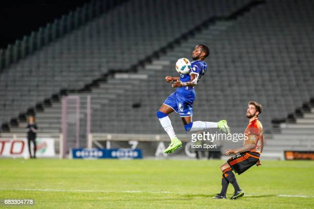 Lenny Nangis of Bastia during the Ligue 1 match between SC Bastia and FC Lorient on May 14 2017 in Istres France
