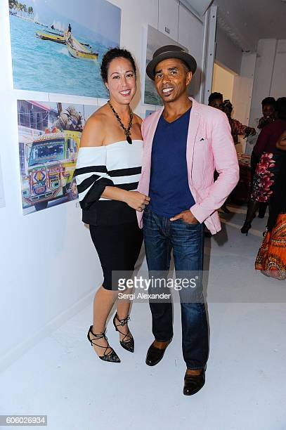 Lenoir Glemaud and Patrick Glemaud attend Haitian photographer Bob Metelus unveils newest collection Haiti A Collective Cry from a Forgotten Paradise...