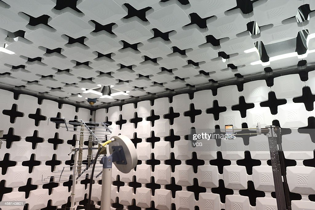 A Lenovo smart phone is seen during an electromagnetic compatibility (EMC) test at the Lenovo MIDH (Mobile Internet and Digital Home) Wuhan Operation Center on December 19, 2013 in Wuhan, China. The plant will mainly produce Lenovo smart phones and tablet computers with an initial capacity of 30 million units a year.
