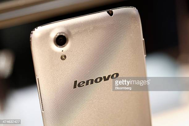 A Lenovo Vibe X smartphone sits on display at Lenovo Group Ltd pavilion on the opening day of the Mobile World Congress in Barcelona Spain on Monday...