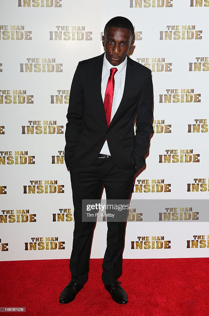Lenox Kambaba attends the premiere of 'The Man Inside' at Vue Leicester Square on July 24, 2012 in London, England.