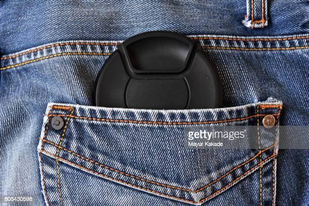 Lens Cap in Jeans back Pocket