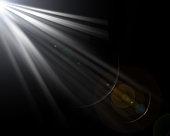 Lens Flare Black Background.