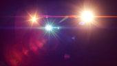 Lens Flare, Black Background, Light - Natural Phenomenon, Sunbeam, Star - Space