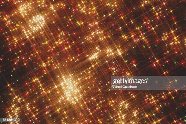 Lens flares from an array of coloured lights 1991