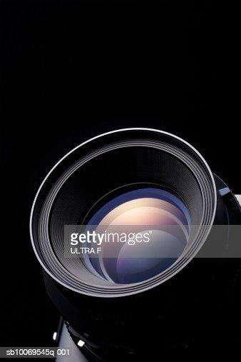 Lens for medium-format camera, close-up : Stock Photo