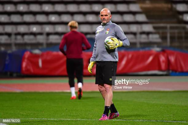 Lens goalkeeping coach Jean Claude Nadon during the Ligue 2 match between Paris FC and RC Lens at Stade Charlety on December 8 2017 in Paris France