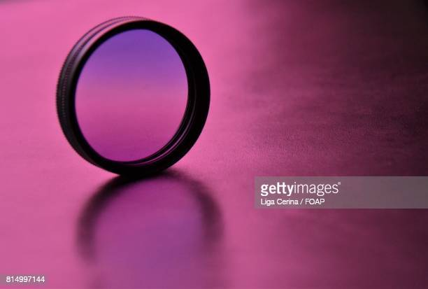 Lense on purple background