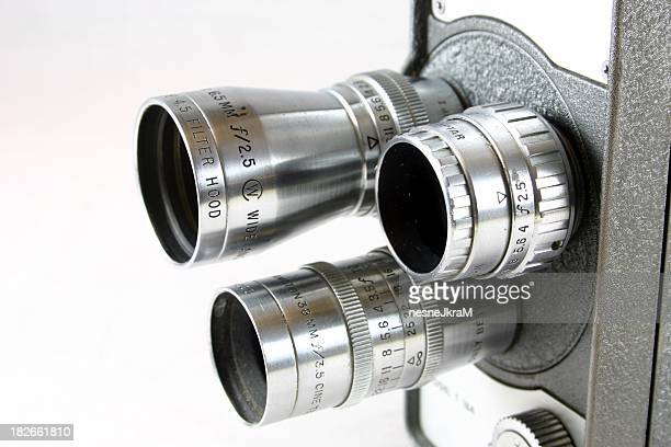 Lenses on old movie camera