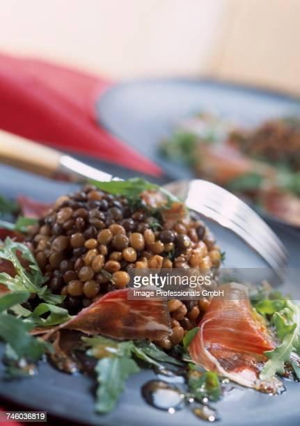 Lentil and Jabugo ham salad