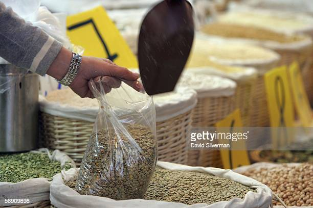 Lentils which along with rice chick peas beans and other legumes traditionally feature on the daily menu in Mediterranean countries are sold by...