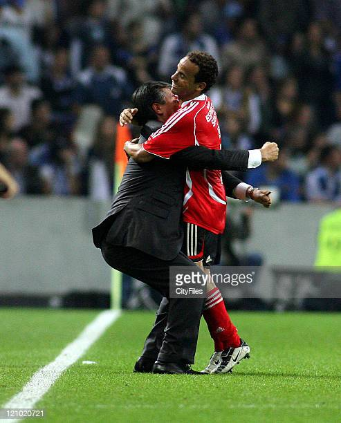Leo and José Veiga during the Champions league match between FC Porto and SL Benfica at Dragao Stadium in Porto Portugal on October 28 2006