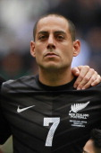 Leo Bertos of New Zealand during a match between Mexico and New Zealand as part of the FIFA World Cup Qualifiers at Azteca Stadium on November 13...