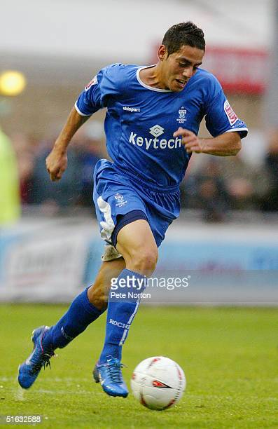 Leo Bertos of Rochdale in action during the Coca Cola League Two match Northampton Town v Rochdale held at the Sixfields Stadium Northampton on...