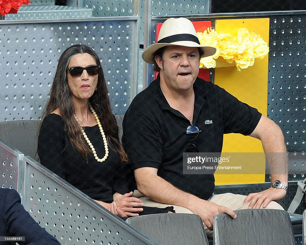 Leo Blakstad and Angela Molina attend Mutua Madrilena Madrid Open on May 13, 2012 in Madrid, Spain.