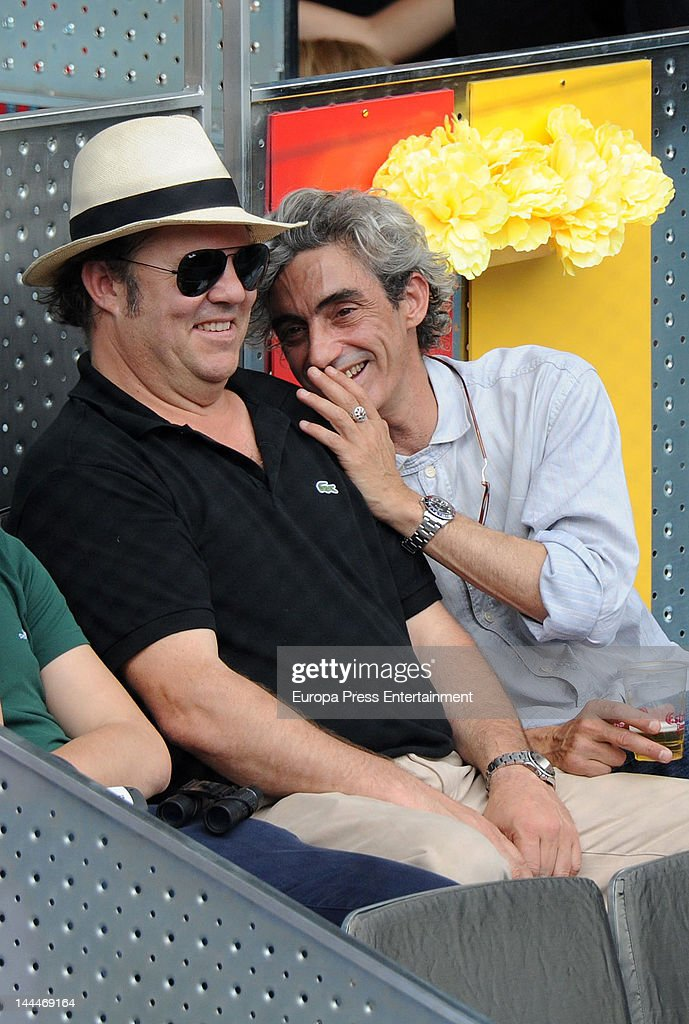 Leo Blakstad and Micky Molina attend Mutua Madrilena Madrid Open on May 13, 2012 in Madrid, Spain.