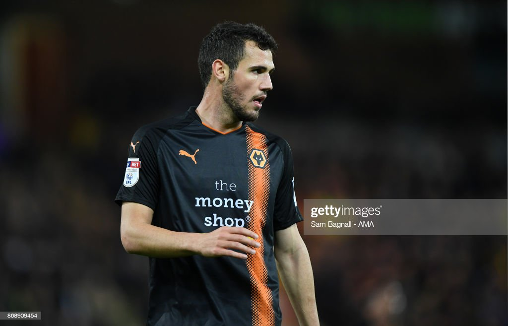 Leo Bonatini of Wolverhampton Wanderers during the Sky Bet Championship match between Norwich City and Wolverhampton at Carrow Road on October 31, 2017 in Norwich, England.