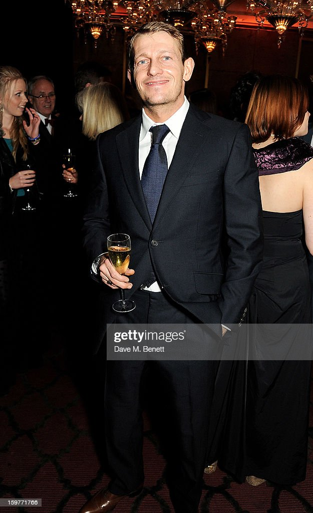 Leo Gregory attends a champagne reception at the London Critics Circle Film Awards at the May Fair Hotel on January 20, 2013 in London, England.