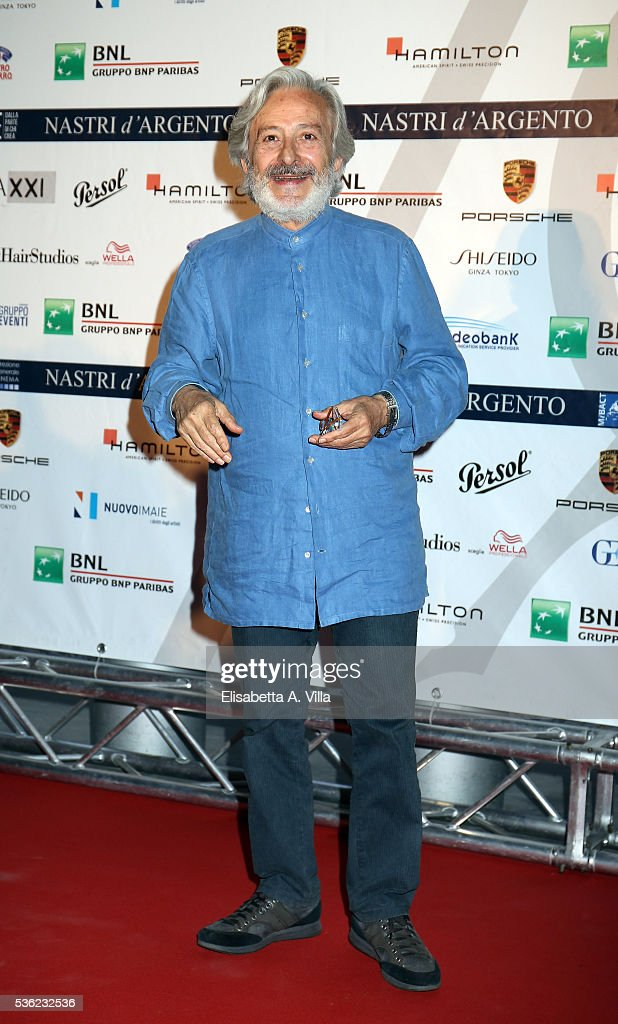 <a gi-track='captionPersonalityLinkClicked' href=/galleries/search?phrase=Leo+Gullotta&family=editorial&specificpeople=5573556 ng-click='$event.stopPropagation()'>Leo Gullotta</a> attends Nastri D'Argento 2016 Award Nominations at Maxxi on May 31, 2016 in Rome, Italy.