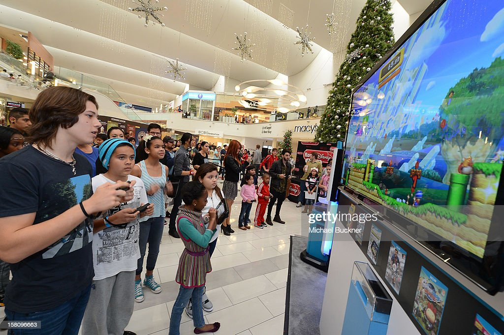 Leo Howard star of Disney XD's hit series 'Kickin' It' gets ready to battle in the Wii U Showdown at Westfield Century City Mall in Los Angeles on December 9, 2012. Wii U is one of Nintendo's hottest items of the holiday season.