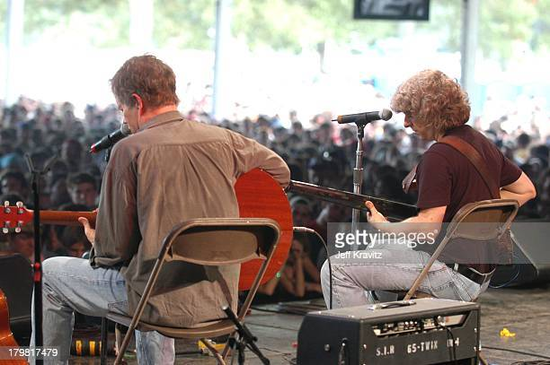 Leo Kottke and Mike Gordon during 2003 Bonnaroo Music Festival Night Two at Bonnaroo Fairgrounds in Manchester Tennessee United States