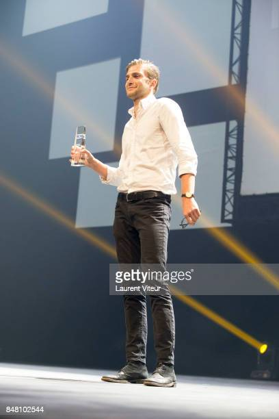 Leo Legrand receives ADAMI Best Actor award for 'Un Ciel Radieux' during Closing Ceremony of 19th Festival of TV Fiction at La Rochelle on September...