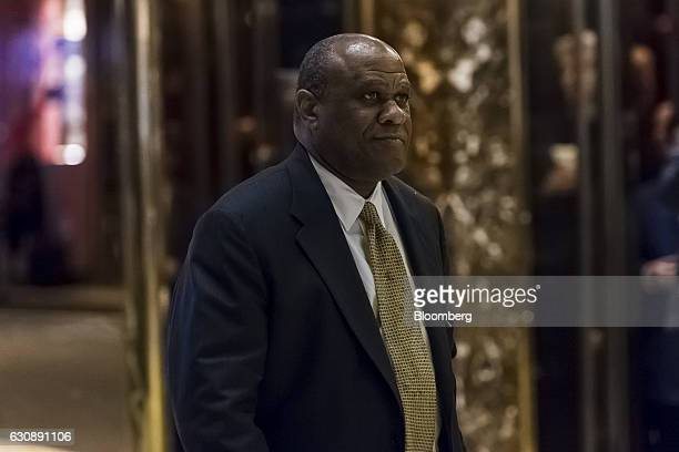 Leo Mackay vice president of ethics and sustainability for Lockheed Martin Corp arrives in the lobby of Trump Tower in New York US on Tuesday Jan 3...