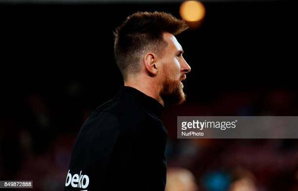Leo Messi during La Liga match between FC Barcelona v SC Eibar in Barcelona on September 19 2017