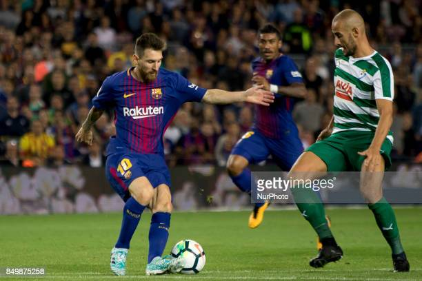 Leo Messi during the spanish league match between FC Barcelona and Eibar at Camp Nou Stadium in Barcelona Spain on September 19 2017