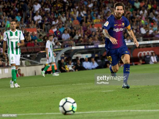 Leo Messi during the spanish league match between the FC Barcelona and the Real Betis in the Camp Nou Stadium in Barcelona Spain on August 20 2017