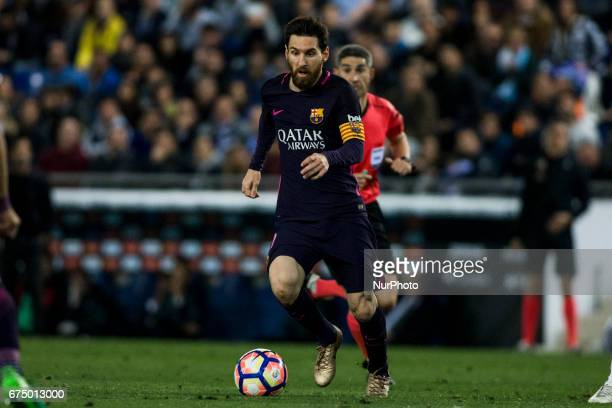 Leo Messi FC Barcelona during the Spanish championship Liga football match between RCD Espanyol vs FC Barcelona at RCD stadium on April 29 2017 in...