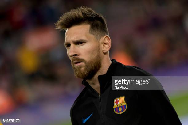 Leo Messi prior the spanish league match between FC Barcelona and Eibar at Camp Nou Stadium in Barcelona Spain on September 19 2017
