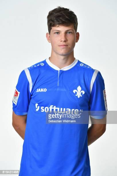 Leo Petri of SV Darmstadt 98 poses during the team presentation at MerckStadion am Boellenfalltor on July 20 2017 in Darmstadt Germany