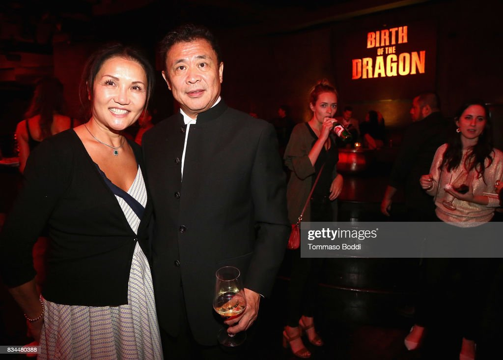 Leo Shi Young (R) and wife attend the special screening WWE Studios' 'Birth Of The Dragon' After Party on August 17, 2017 in Hollywood, California.