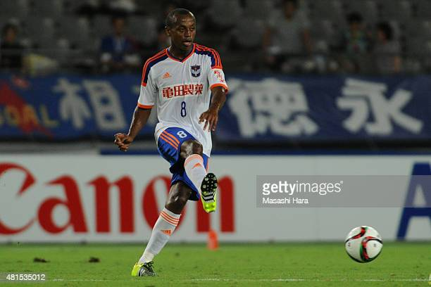 Leo Silva of Albirex Niigata in action during the JLeague match between FC Tokyo and Albirex Niigata at Ajinomoto Stadium on July 15 2015 in Chofu...