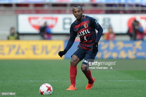 Leo Silva of Kashima Antlers in action during the JLeague J1 match between Kashima Antlers and FC Tokyo at Kashima Soccer Stadium on February 25 2017...