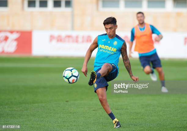 Leo Suarez during the first week of Villarreal CF training session at Ciudad Deportiva of Miralcamp July 14 in Vilareal Spain