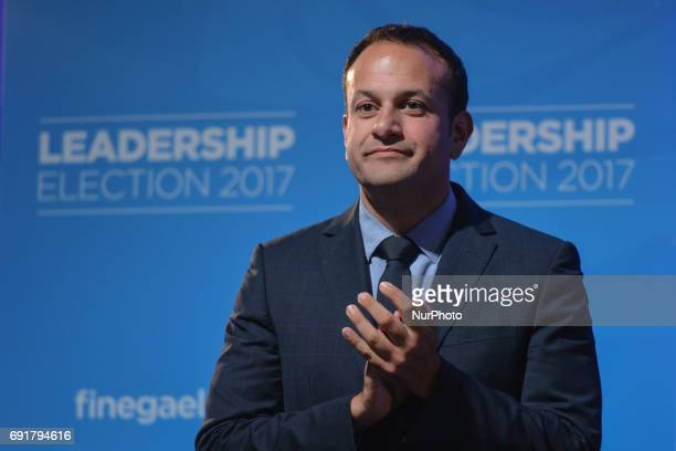 Leo Varadkar at the Mansion House in Dublin where he was elected the new leader of Fine Gael and on course to become Irelands first gay Taoiseach...