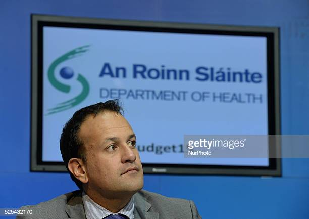 Leo Varadkar Health Minister during the 2015 Healthn Budget press conference at Government Buildings Dublin Ireland 14th October 2014 Photo credit...