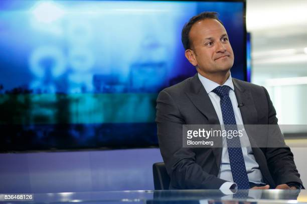 Leo Varadkar Ireland's prime minister listens during a Bloomberg Television interview in Toronto Ontario Canada on Aug 21 2017 Varadkarsaid he...
