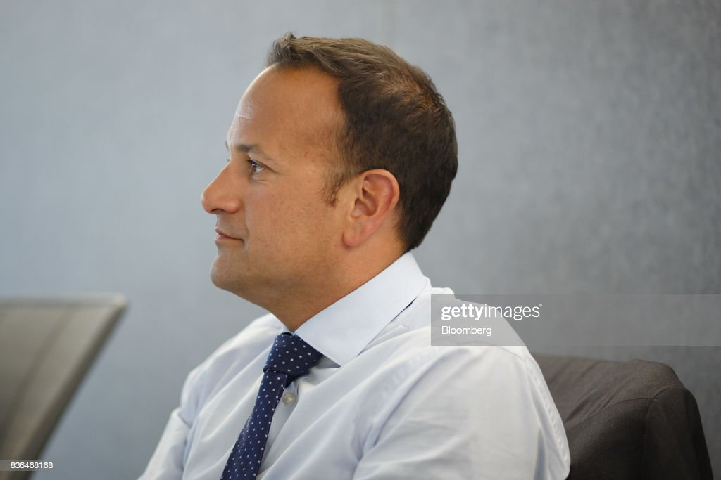 Leo Varadkar, Ireland's prime minister, listens during an interview in Toronto, Ontario, Canada on Aug. 21, 2017. Varadkar said he remains 'confused and puzzled' about the U.K.'s global trading plans after Brexit, as the clock ticks down in talks on the terms of Britain's exit from the European Union. Photographer: Cole Burston/Bloomberg via Getty Images