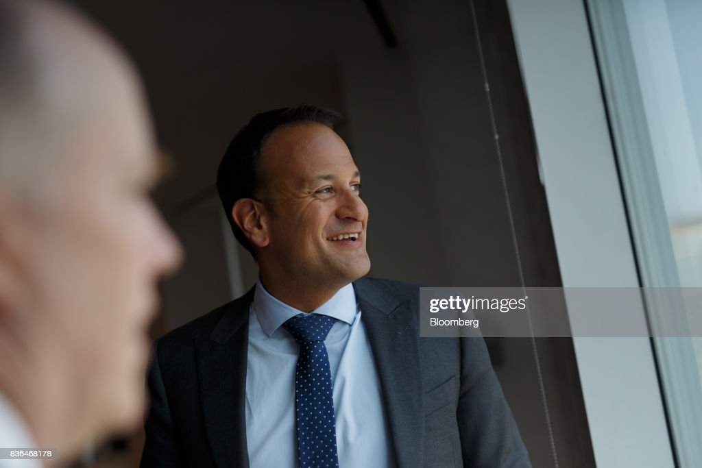 Leo Varadkar, Ireland's prime minister, smiles after an interview in Toronto, Ontario, Canada on Aug. 21, 2017. Varadkar said he remains 'confused and puzzled' about the U.K.'s global trading plans after Brexit, as the clock ticks down in talks on the terms of Britain's exit from the European Union. Photographer: Cole Burston/Bloomberg via Getty Images
