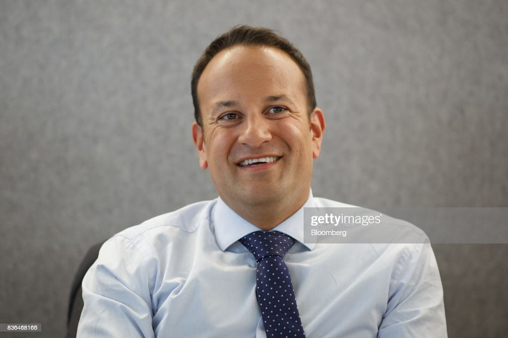 Leo Varadkar, Ireland's prime minister, smiles during an interview in Toronto, Ontario, Canada on Aug. 21, 2017. Varadkar said he remains 'confused and puzzled' about the U.K.'s global trading plans after Brexit, as the clock ticks down in talks on the terms of Britain's exit from the European Union. Photographer: Cole Burston/Bloomberg via Getty Images
