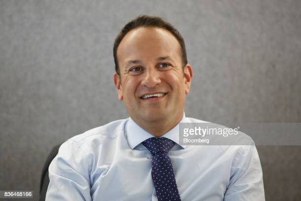 Leo Varadkar Ireland's prime minister smiles during an interview in Toronto Ontario Canada on Aug 21 2017 Varadkar said he remains 'confused and...
