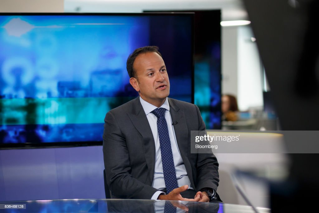 Leo Varadkar, Ireland's prime minister, speaks during a Bloomberg Television interview in Toronto, Ontario, Canada on Aug. 21, 2017. Varadkar said he remains 'confused and puzzled' about the U.K.'s global trading plans after Brexit, as the clock ticks down in talks on the terms of Britain's exit from the European Union. Photographer: Cole Burston/Bloomberg via Getty Images