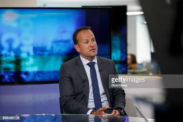Leo Varadkar Ireland's prime minister speaks during a Bloomberg Television interview in Toronto Ontario Canada on Aug 21 2017 Varadkarsaid he...